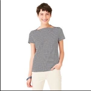 Kate Spade Saturday black and white striped top